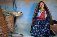 Nepal. Region de Gorkha. Ethnie Gurung. // Gurung ethnic group. Gorkha area. Nepal.