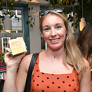 Amie Dawson @fitnessforster attend the Oppo party to launch its new Madagascan Vanilla, Sicilian Lemon and Raspberry Cheesecakes, served with Skinny Prosecco at Farm Girls Café, 1 Carnaby Street, Soho, London, UK on July 18 2018.