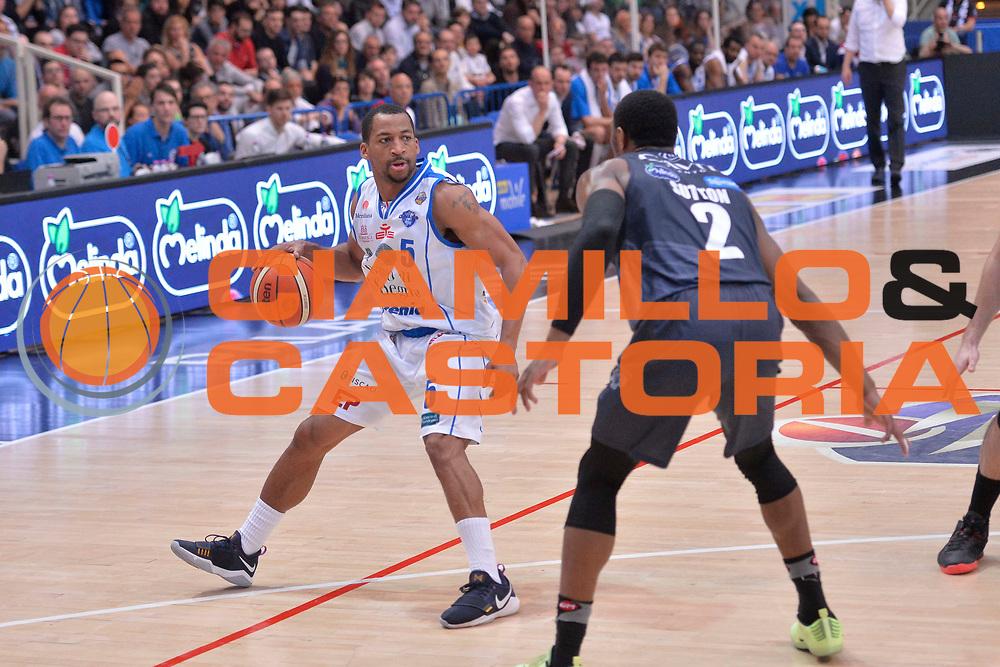 David Bell<br /> Dolomiti Energia Aquila Basket Trento - Banco di Sardegna Dinamo Sassari<br /> Lega Basket Serie A 2016/2017<br /> Trento, 08/04/2017<br /> Foto Ciamillo - Castoria