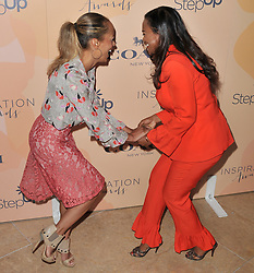 (L-R) Essence Atkins and Tatyana Ali meet at Step Up's 14th Annual Inspiration Awards held athe Beverly Hilton in Beverly Hills, CA on Friday, June 2, 2017. (Photo By Sthanlee B. Mirador) *** Please Use Credit from Credit Field ***