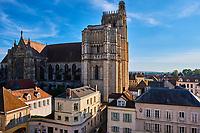France, Bourgogne-Franche-Comté, Yonne (89), la ville et la cathédrale Saint-Etienne // France, Burgundy, Yonne, Sens,  Saint-Etienne cathedral
