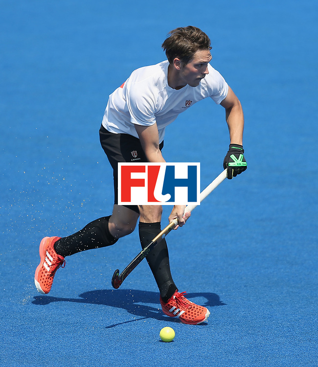 LONDON, ENGLAND - JUNE 19:  Adam Froese of Canada during the Hero Hockey World League Semi-Final match between Netherlands and Canada at Lee Valley Hockey and Tennis Centre on June 19, 2017 in London, England.  (Photo by Alex Morton/Getty Images)