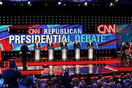 US Republican Presidential Candidates from left to right, Ben Carson , Marco Rubio , Donald Trump, Ted Cruz and John Kasich during the Republican Presidential Debate at the University of Houston in Houston, Texas on February 25, 2016.