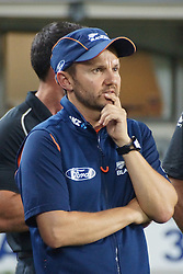 March 4, 2017 - Auckland, New Zealand - New Zealand Head coach Mike Hesson reacts after losing the final match of  One Day International series between New Zealand and South Africa at Eden Park on March 4, 2017 in Auckland, New Zealand (Credit Image: © Shirley Kwok/Pacific Press via ZUMA Wire)