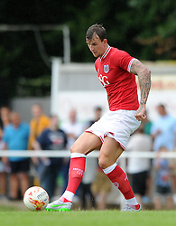 Aden Flint of Bristol City - Photo mandatory by-line: Dougie Allward/JMP - Mobile: 07966 386802 - 05/07/2015 - SPORT - Football - Bristol - Brislington Stadium - Pre-Season Friendly