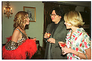 Candace Bushnell; Bruno Wang, Candace Bushnell book party. Harington's. London. 1 February 2001. © Copyright Photograph by Dafydd Jones 66 Stockwell Park Rd. London SW9 0DA Tel 020 7733 0108 www.dafjones.com