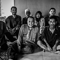 Cancer patient Mohammad Sani (front-R) is photographed with his family in 2010. His father, Mohd Said (back-C) died in 2012 and brother Mohd Yaser (front-L) died in 2011.