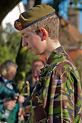 Ceremony of Remembrance at Seaford, East Sussex on 11 November 2012 Army Cadet serving in the Army Cadet Force Seaford Army Cadet Force