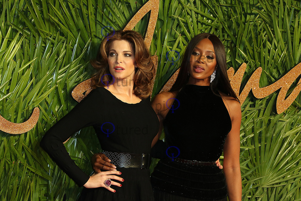 Stephanie Seymour, Naomi Campbell, The Fashion Awards 2017, The Royal Albert Hall, London UK, 04 December 2017, Photo by Richard Goldschmidt