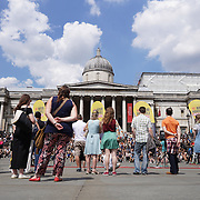 London,England,UK, 23h July 2016 : International buskers from al over the world preforms at the International busking day in Trafalgar Square, London, Uk. Photo by See Li