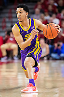 FAYETTEVILLE, AR - JANUARY 12:  Tremont Waters #3 of the LSU Tigers drives down the court during a game against the Arkansas Razorbacks at Bud Walton Arena on January 12, 2019 in Fayetteville, Arkansas.  The Tigers defeated the Razorbacks 94-88.  (Photo by Wesley Hitt/Getty Images) *** Local Caption *** Tremont Waters