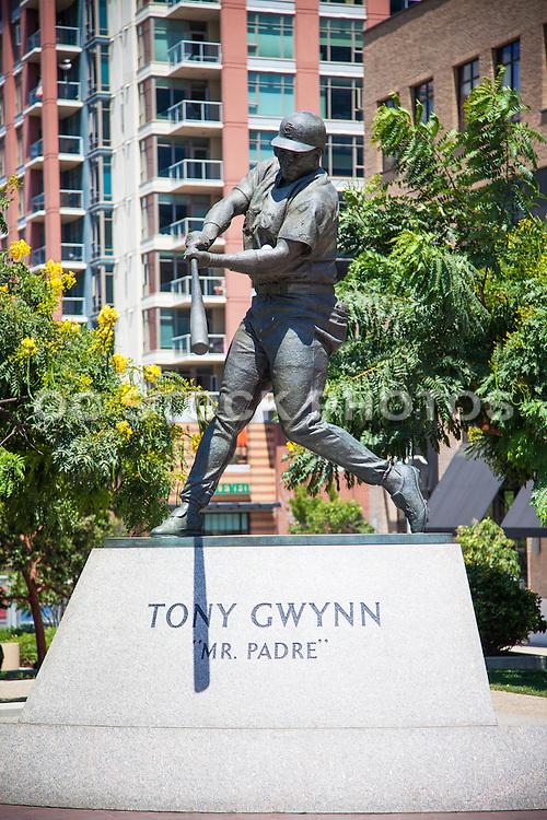 Tony Gwynn Padre Baseball Sculpture at Petco Park San Diego