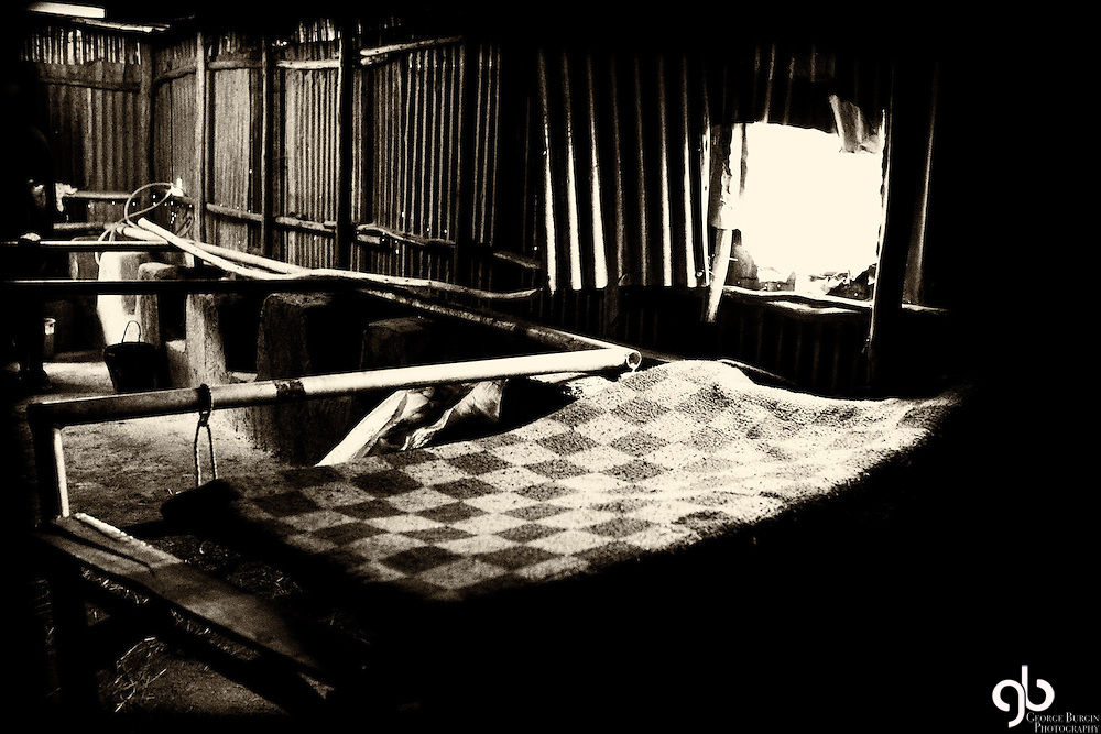 This bed is in the corner of a barn in Korah, Ethiopia.
