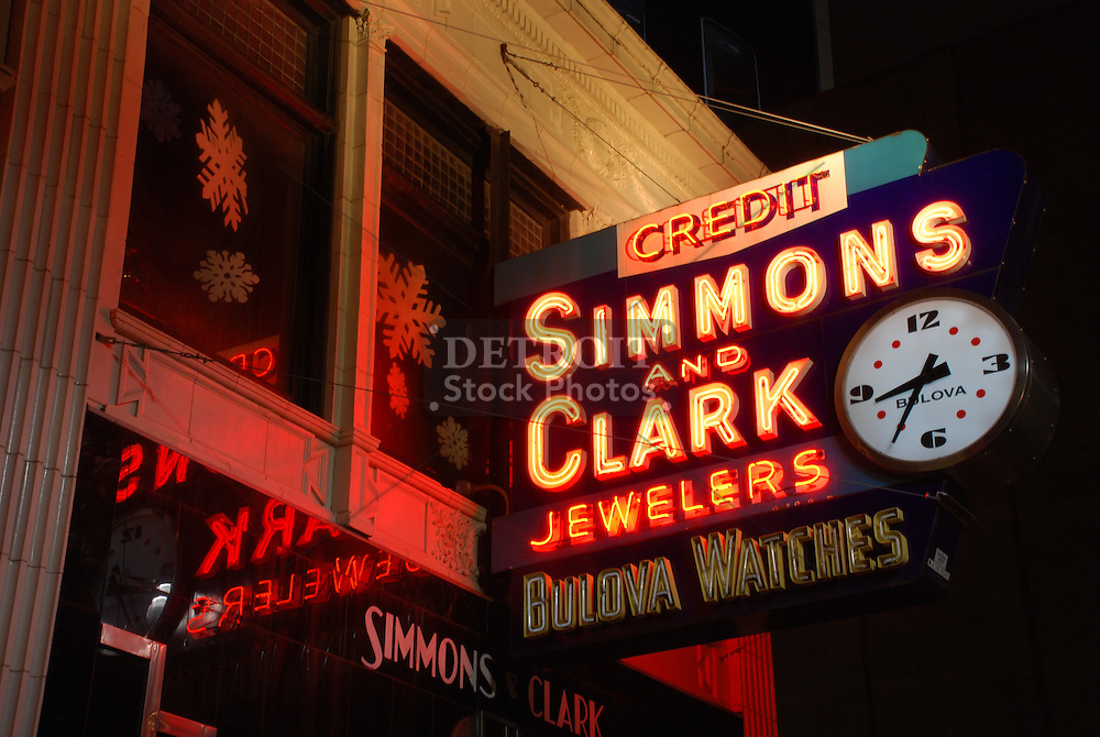 Simmons And Clark Jewelers started in 1925, Fred Simmons and Harry Clark established Simmons & Clark Jewelers on Broadway in downtown Detroit, Michigan.