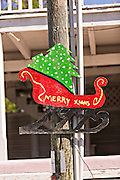 Christmas decoration in Dunmore Town, Harbour Island, The Bahamas.