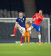 23rd March 2018, Hampden Park, Glasgow, Scotland; International Football Friendly, Scotland versus Costa Rica; Charlie Mulgrew of Scotland and Marco Urena of Costa Rica