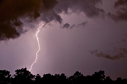 An active storm brings in the first day of summer in West Columbia, SC.