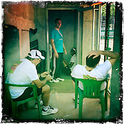 Roland Garros. Paris, France. May 27th 2012.Clay maintenance men..Les hommes de la maintenance de la terre battue...