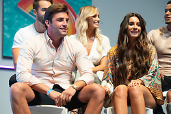 © Licensed to London News Pictures. 10/08/2018. London, UK. Jack Fincham and Dani Dyer attends Love Island Live event at the Excel Center. Photo credit: London News Pictures