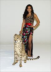 Myleene Klass with cheetah 9-7-12