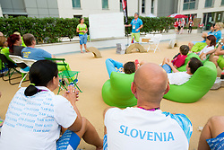 Team Slovenia in Paralympic village during Day 9 of the Summer Paralympic Games London 2012 on September 8, 2012, in Paralympic village, London, Great Britain. (Photo by Vid Ponikvar / Sportida.com)