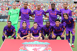 July 22, 2018 - Charlotte, NC, U.S. - CHARLOTTE, NC - JULY 22: Liverpool team during the International Champions Cup match between Liverpool FC and Borussia Dortmund on July 22, 2018 at Bank of America Stadium in Charlotte, NC.(Photo by Jaylynn Nash/Icon Sportswire) (Credit Image: © Jaylynn Nash/Icon SMI via ZUMA Press)