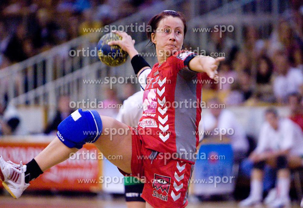 Tanja Oder of Krim Mercator  at first finals handball match of Slovenian Women National Championships between RK Olimpija and RK Krim Mercator, on May 16, 2009, in Arena Tivoli, Ljubljana, Slovenia. Olimpija won after 10 years vs Krim Mercator 30:28. (Photo by Vid Ponikvar / Sportida)