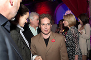 FRAN HICKMAN; TOM HOLLANDER; SIR RICHARD EYRE; LISA DILLON, Party after the opening of 'Flea in her Ear' . The Old Vic. ( John Mortimer write the translation of theplay.) Vinioplois. 14 December 2010. DO NOT ARCHIVE-© Copyright Photograph by Dafydd Jones. 248 Clapham Rd. London SW9 0PZ. Tel 0207 820 0771. www.dafjones.com.