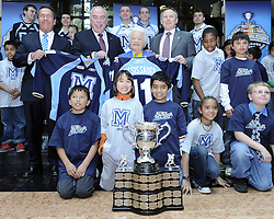 The Canadian Hockey League announced on Monday that the Mississauga St. Michael's Majors will host the 2011 MasterCard Memorial Cup next May. Photo by Aaron Bell/OHL Images