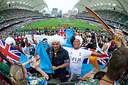 Fijian Fans at Hong Kong stadium in the Cathay Pacific/HSBC Hong Kong 7s at Hong Kong Stadium, Hong Kong, Hong Kong on 7 April 2017. Photo by Ian  Muir.*** during *** v *** in the Cathay Pacific/HSBC Hong Kong 7s at Hong Kong Stadium, Hong Kong, Hong Kong on 7 April 2017. Photo by Ian  Muir.
