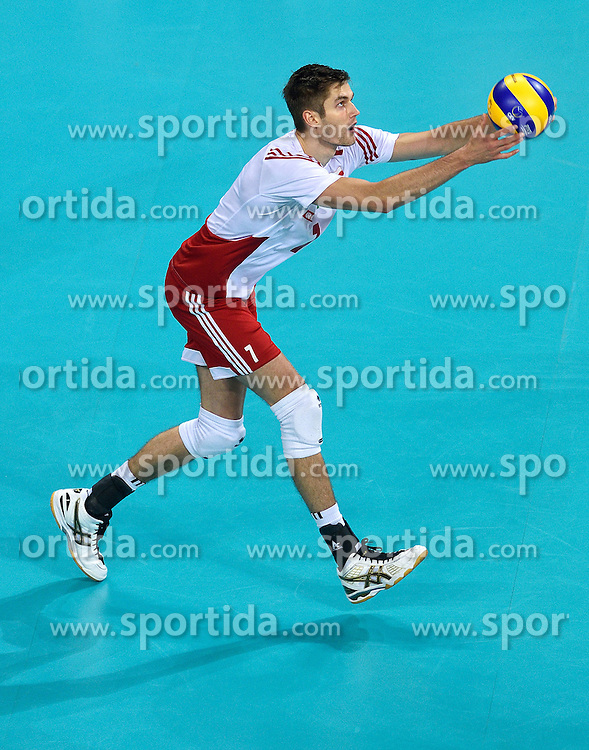 Karol Klos #7 during volleyball match between National teams of Poland and Slovenia in Quarterfinals of 2015 CEV Volleyball European Championship - Men, on October 14, 2015 in Arena Armeec, Sofia, Bulgaria. Photo by Ronald Hoogendoorn / Sportida
