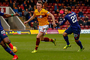 Match winning goal scorer David Turnbull of Motherwell  during the Ladbrokes Scottish Premiership match between Motherwell and Heart of Midlothian at Fir Park, Motherwell, Scotland on 17 February 2019.