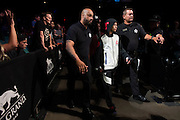LAS VEGAS, NV - JULY 8:  John Moraga walks to the Octagon during The Ultimate Fighter Finale at MGM Grand Garden Arena on July 8, 2016 in Las Vegas, Nevada. (Photo by Cooper Neill/Zuffa LLC/Zuffa LLC via Getty Images) *** Local Caption *** John Moraga