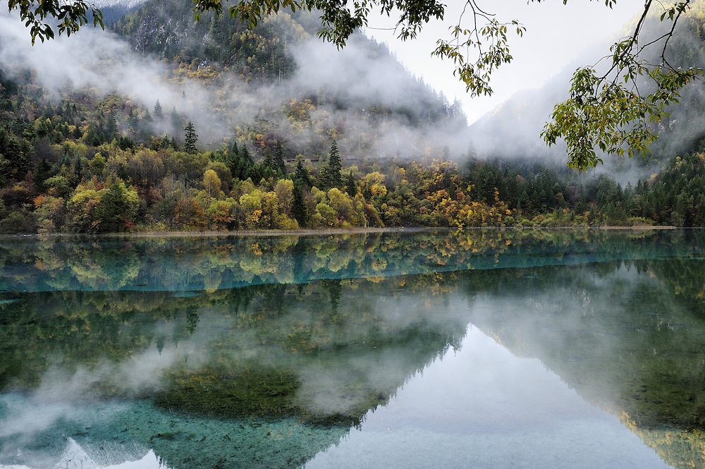 Jiuzhaigou National Park in Sichuan Province, China.