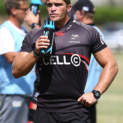 DURBAN, SOUTH AFRICA - JANUARY 19: Kieren Van Vuuren during the Cell C Sharks training session at Growthpoint Kings Park on January 19, 2018 in Durban, South Africa. (Photo by Steve Haag/Gallo Images)