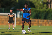 Forest Green Rovers Manny Monthe(6) during the Forest Green Rovers Training session at Browns Sport and Leisure Club, Vilamoura, Portugal on 23 July 2017. Photo by Shane Healey.