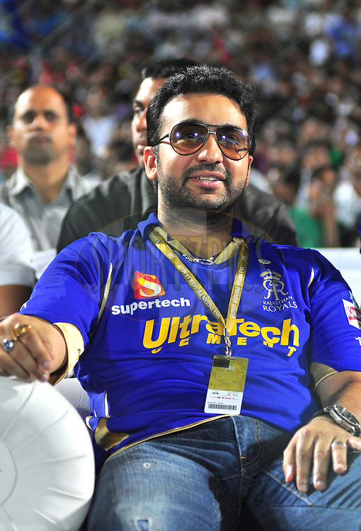 Rajasthan Royals owner Raj Kundra during match 30 of the the Indian Premier League ( IPL) 2012  between The Rajasthan Royals and the Royal Challengers Bangalore held at the Sawai Mansingh Stadium in Jaipur on the 23rd April 2012..Photo by Arjun Panwar/IPL/SPORTZPICS