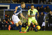 Huddersfield Town striker Nahki Wells and Michael Morrison during the Sky Bet Championship match between Birmingham City and Huddersfield Town at St Andrews, Birmingham, England on 5 December 2015. Photo by Alan Franklin.