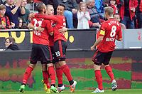 Fotball<br /> Tyskland<br /> 23.09.2012<br /> Foto: Witters/Digitalsport<br /> NORWAY ONLY<br /> <br /> 1:1 Jubel v.l. Oemer Toprak, Torschuetze Michal Kadlec, Karim Bellarabi, Lars Bender (Leverkusen)<br /> <br /> Fussball Bundesliga, Bayer 04 Leverkusen - Borussia Mönchengladbach