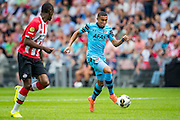 EINDHOVEN - 14-08-2016, PSV - AZ, Philips Stadion, PSV speler Nicolas Isimat-Mirin, AZ speler Dabney dos Santos Souza