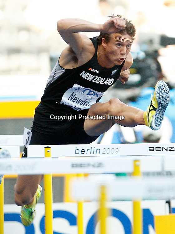 Brent Newdick of New Zealand - 110m Hurdles -Decathlon during the 12th IAAF Athletic World Championships at the Olympic Stadium in Berlin, Germany, 20 August 2009. Photo: Piotr Hawalej / WROFOTO / PHOTOSPORT
