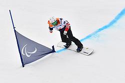 MINOR Mike USA competing in ParaSnowboard, Snowboard Banked Slalom at  the PyeongChang2018 Winter Paralympic Games, South Korea.