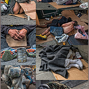 Homeless street person a sleep on street in New York City. <br /> <br /> Persons with serious and persistent mental health problems may be forced to live on the streets in precarious circumstances.<br /> <br /> Homeless in NYC Wheelchair - GOR-133925-cE17<br /> Homeless Couple in NYC - GOR-133666-cE17<br /> Homeless in NYC Winter - GOR-123909-16<br /> Homeless of NYC Park Bench - GOR-125459-cEcR17<br /> Homeless in  NYC Winter - GOR-126871-cE17<br /> Homeless in NYC - GOR-133700-cEcR17<br /> Homeless Couple in NYC - GOR-117680-cE-16<br /> Homeless in NYC - GOR-133364-17