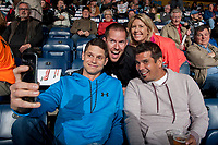 KELOWNA, CANADA - APRIL 25: Fans take a selfie on April 25, 2017 at Prospera Place in Kelowna, British Columbia, Canada.  (Photo by Marissa Baecker/Shoot the Breeze)  *** Local Caption ***