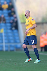 Oxford United defender David Hunt (13)  - Photo mandatory by-line: Nigel Pitts-Drake/JMP - Tel: Mobile: 07966 386802 08/03/2014 - SPORT - FOOTBALL -  Kassam Stadium - Oxford - Oxford United v Burton Albion - Sky Bet League Two