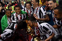 Esultanza Juventus Celebration Paulo Dybala, Miralem Pjanic <br /> Roma 09-05-2018  Stadio Olimpico  <br /> Football Calcio Finale Coppa Italia / Italy's Cup Final 2017/2018 Juventus - Milan<br /> Foto Andrea Staccioli / Insidefoto