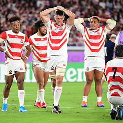 Disappointment for Japan during the Rugby World Cup match between Japan and Scotland at International Stadium Yokohama on October 13, 2019 in Yokohama, Japan. (Photo by Dave Winter/Icon Sport) - --- - International Stadium Yokohama - Yokohama (Japon)