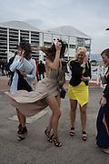 GABBI JOHN; LAKEN JOHN; KAREN RANDALL; ASHLEY JOHN, The Cheltenham Festival Ladies Day. Cheltenham Spa. 11 March 2015