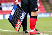 SkY Bet & EFL Substitute Board during the EFL Sky Bet League 2 match between Grimsby Town FC and Port Vale at Blundell Park, Grimsby, United Kingdom on 10 March 2018. Picture by Mick Atkins.