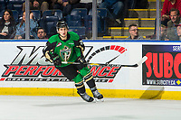 KELOWNA, BC - JANUARY 19:  Cole Fonstad #24 of the Prince Albert Raiders skates against the Kelowna Rockets at Prospera Place on January 19, 2019 in Kelowna, Canada. (Photo by Marissa Baecker/Getty Images)***Local Caption***